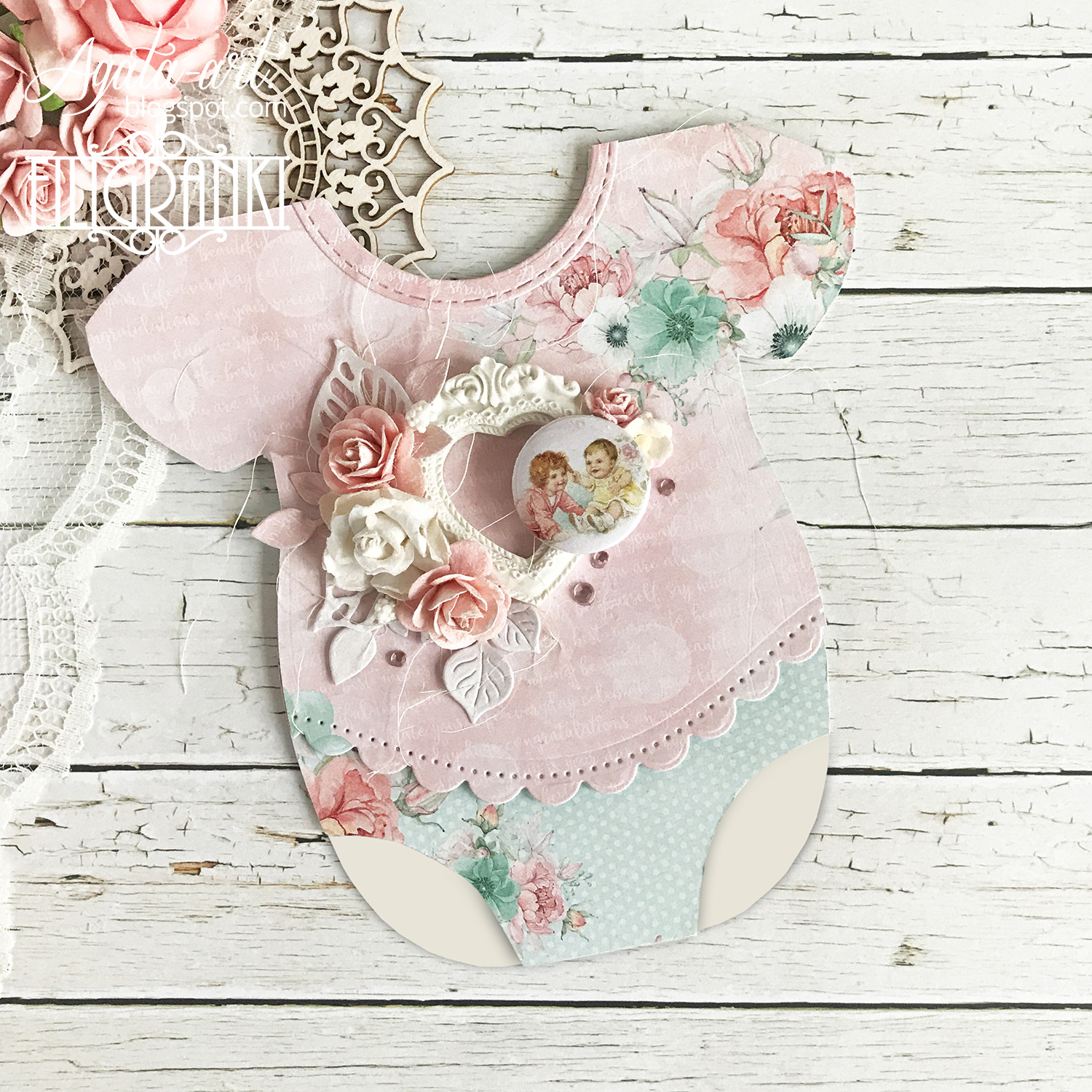 KURS: Kartka – body / TUTORIAL: Baby rompers card