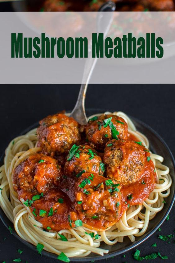 Mushroom Meatballs - Vegetarian Dinner