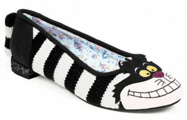 Irregular Choice Disney Alice In Wonderland cheshire flat
