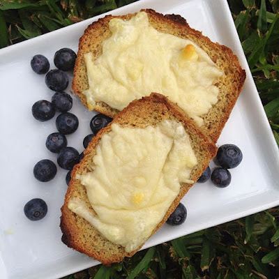 Paleo Grilled Cheese Toast with Blueberries