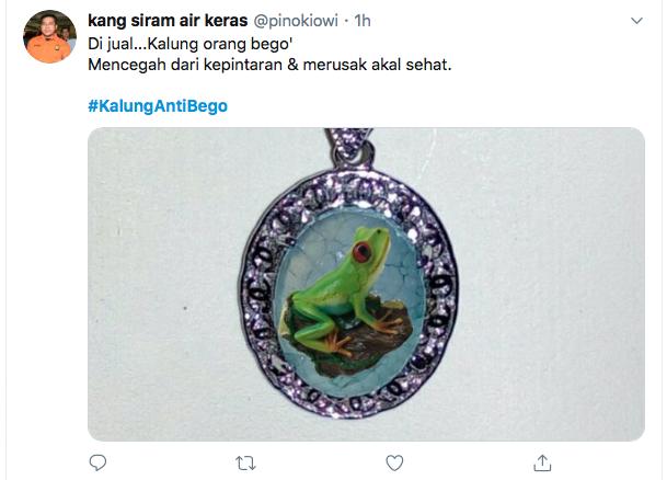 Heboh Kalung Antivirus Corona, <i>#KalungAntiBego </i>Jadi Trending di Twitter
