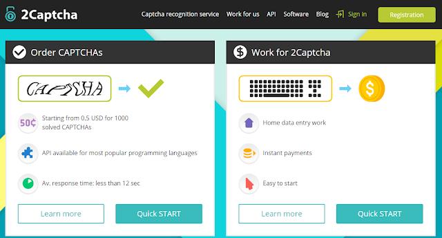 Uang Gratis Online dari Kerja Ngetik Captcha