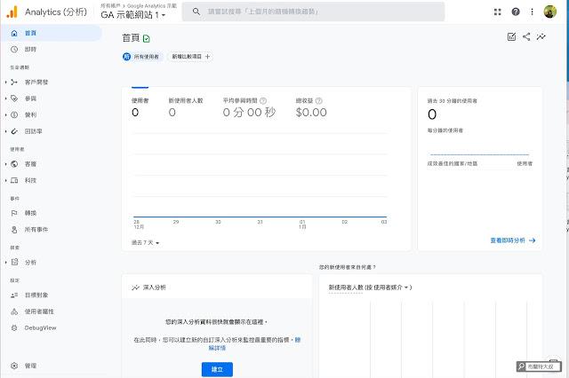 【網站 SEO】如何設定新版 Google Analytics 4 property?(網站、部落格都適用) - 數據還沒匯入前,可以先熟悉一下新版 GA4P 的介面