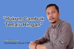 "Pelecehan Seksual di Aceh Kian Meningkat, F3P: ""Hukum Cambuk Terlalu Ringan"""