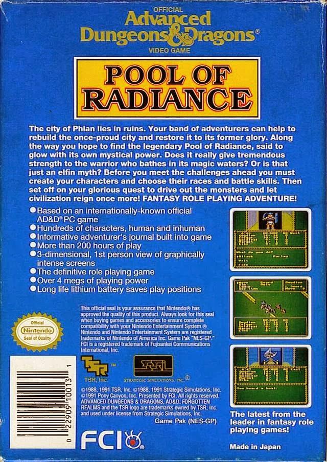Nerdicus NES Review #12 - Advanced D&D : Pool of Radiance