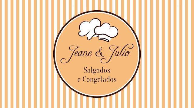 Cartão de Visitas: Jeane & Julio - Salgados e Congelados