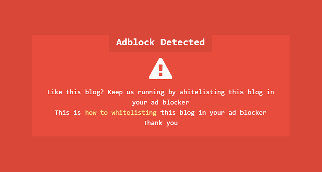 Memasang Notifikasi AdBlocker Ala Kompi Ajaib dan Arlina Design