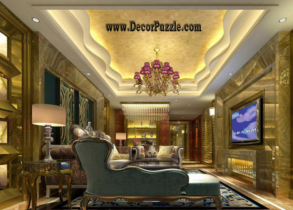 plaster of paris design for luxury living room 2018, pop ceiling designs
