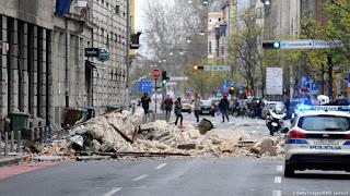 Terremoto leva pânico à Croácia durante confinamento por coronavírus