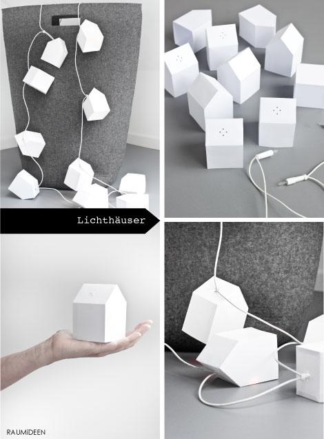Häuser zum falten aus Papier