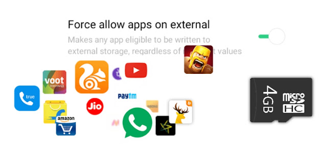 Force to allow apps on external storage feature in ColorOS