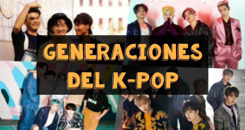 generaciones kpop
