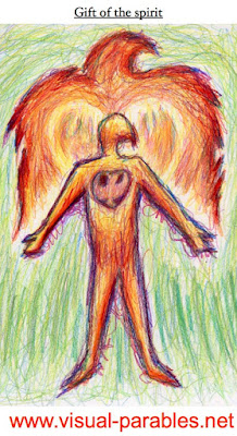 a person consumed by holy fire of the spirit
