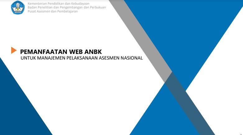 Materi Pemanfaatan Web ANBK untuk Manajemen Pelaksanaan Asesmen Nasional