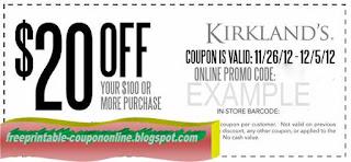 Free Printable Kirklands Coupons