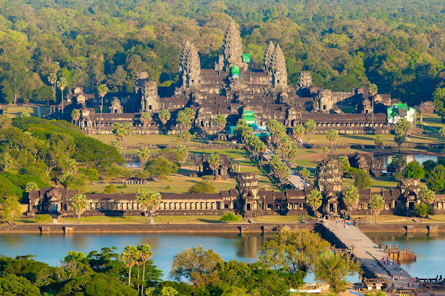 Аэрофотоснимок Ангкор Ват