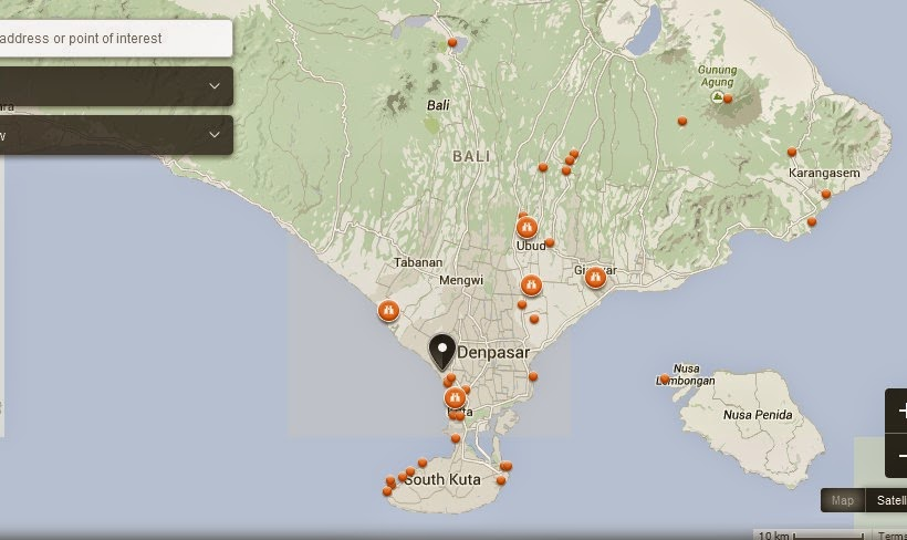 Semara Spa Bali Map,Map of Semara Spa Bali Island,Tourist Attractions In Bali,Things to do in Bali Island,Semara Spa Bali Island accommodation destinations attractions hotels map reviews photos pictures