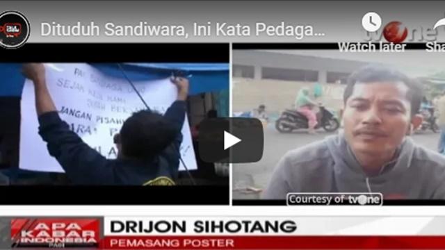 Dituduh Sandiwara oleh TKN Jokowi, Ini Kata Pedagang Pemasang Poster Tolak Sandiaga Uno