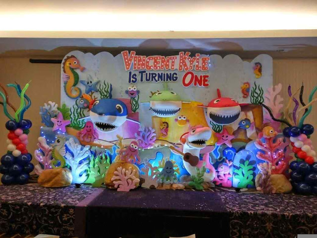 Foto dekorasi backdrop tema under the sea untuk ultah (BDay) anak