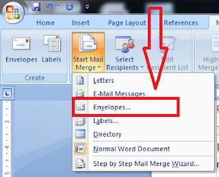 Cara Membuat Sampul Amplop Surat Pada Microsoft Word - Tutorial Microsoft Word, cara setting amplop surat microsoft word, bagaiaman cara membuat amplop surat dengan microsoft word, cara membuat amplop surat di word, panduan membuat amplop surat di microsoft word