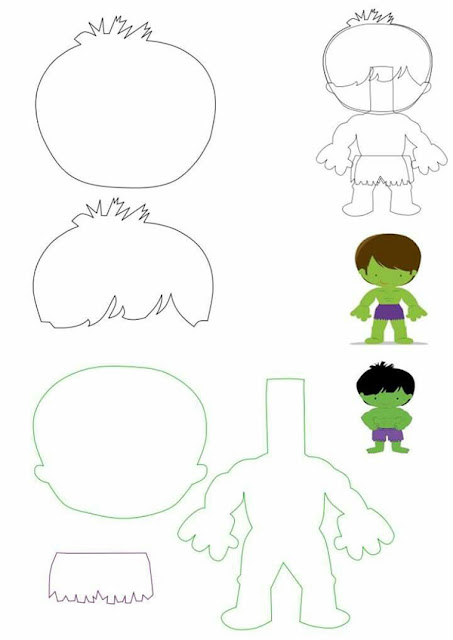 Hulk Baby Free Printable Template