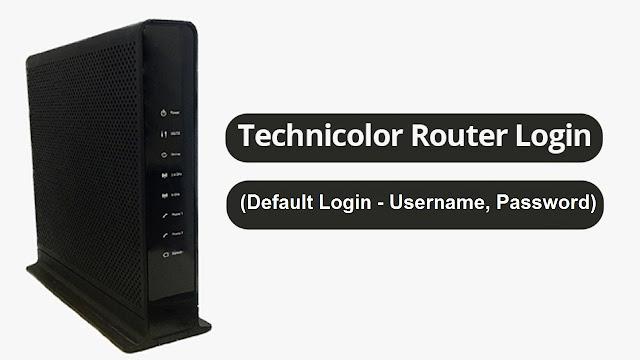 Technicolor Router Login