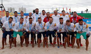 JUEGOS EUROPEOS Minsk 2019 - España es subcampeona de fútbol playa