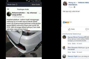 Nmax serempet mobil jadi perdebatan netizen