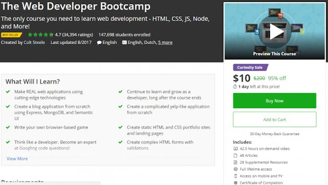 [BESTSELLING] The Web Developer Bootcamp(10$)