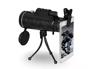 Zoomable 60X Monocular with Smartphone Attachment