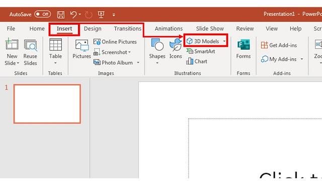 Tool dan Menu gambar 3D Ms.powerpoint