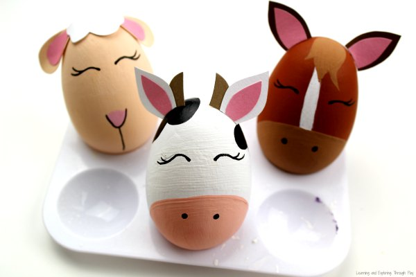 Farm Animals Egg Craft