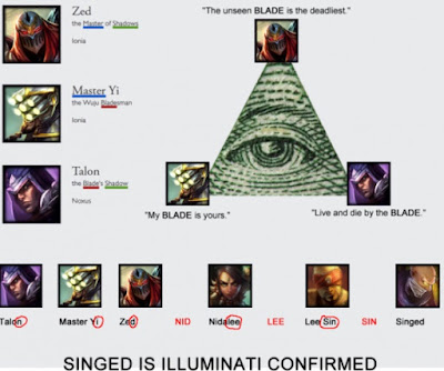 SINGED ILLUMINATI CONFIRMED. Riot e LoL são Illuminatis