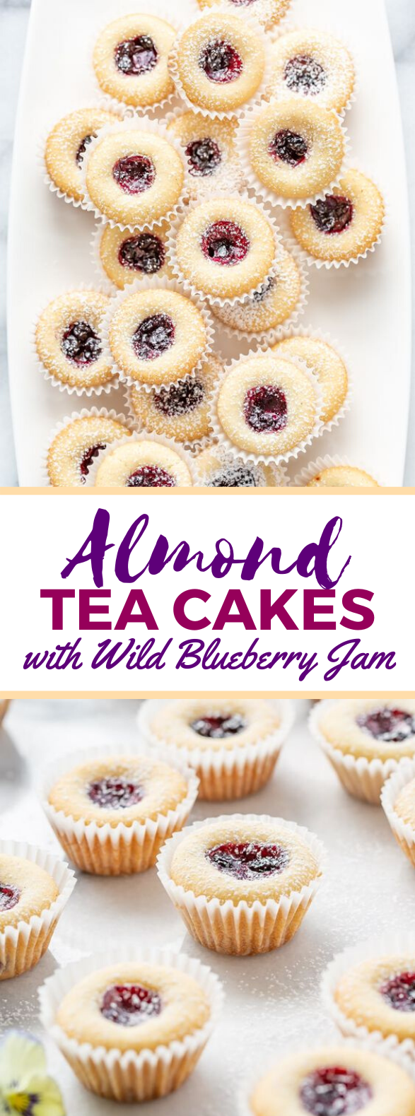 Almond Tea Cakes with Wild Blueberry Jam #desserts #cake
