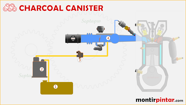 fungsi charcoal canister dan cara kerjanya
