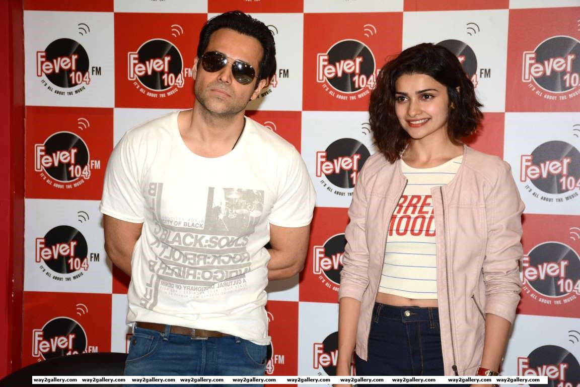 Emraan Hashmi and Prachi Desai promoted Azhar at Fever  FM studio
