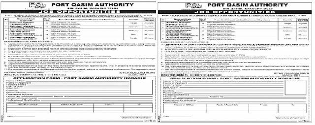 Port Qasim Authority PQA Management Posts Karachi 2020 Latest