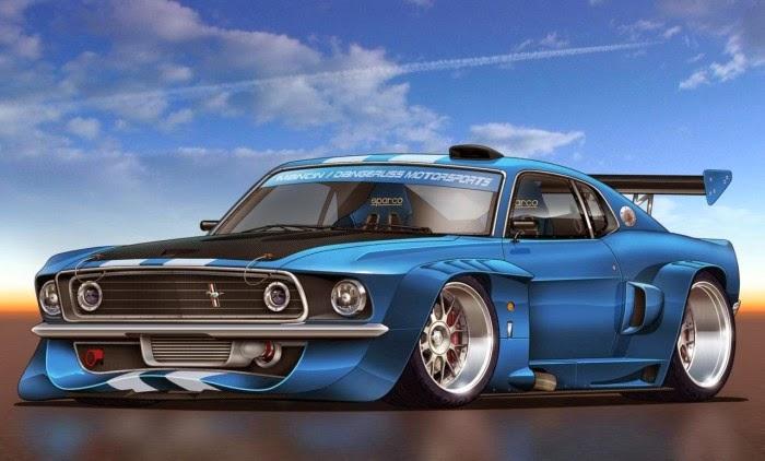 Ford Gt Sports Car Wallpaper Hd Desktop Tablet: Blue Ford Mustang Concept Sports Car Wallpaper HD
