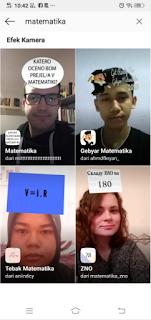 Filter matematika instagram |  Cara dapatkan filter Tebak matematika instagram