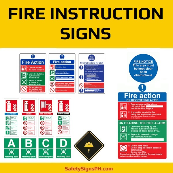 Fire Instruction Signs Philippines
