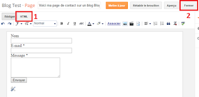 Passer un article en mode HTML sur Blogger