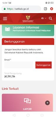 Website terbaru sekretariat kabinet,