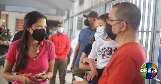 Maria Gabriela Chávez volvió de los Mayamis para votar en las elecciones internas del PSUV