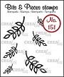 Mini clear-stempels (max 20 x 19 mm), 6 blaadjes. Mini clear-stamps (max 20 x 19 mm), 6 leafs.