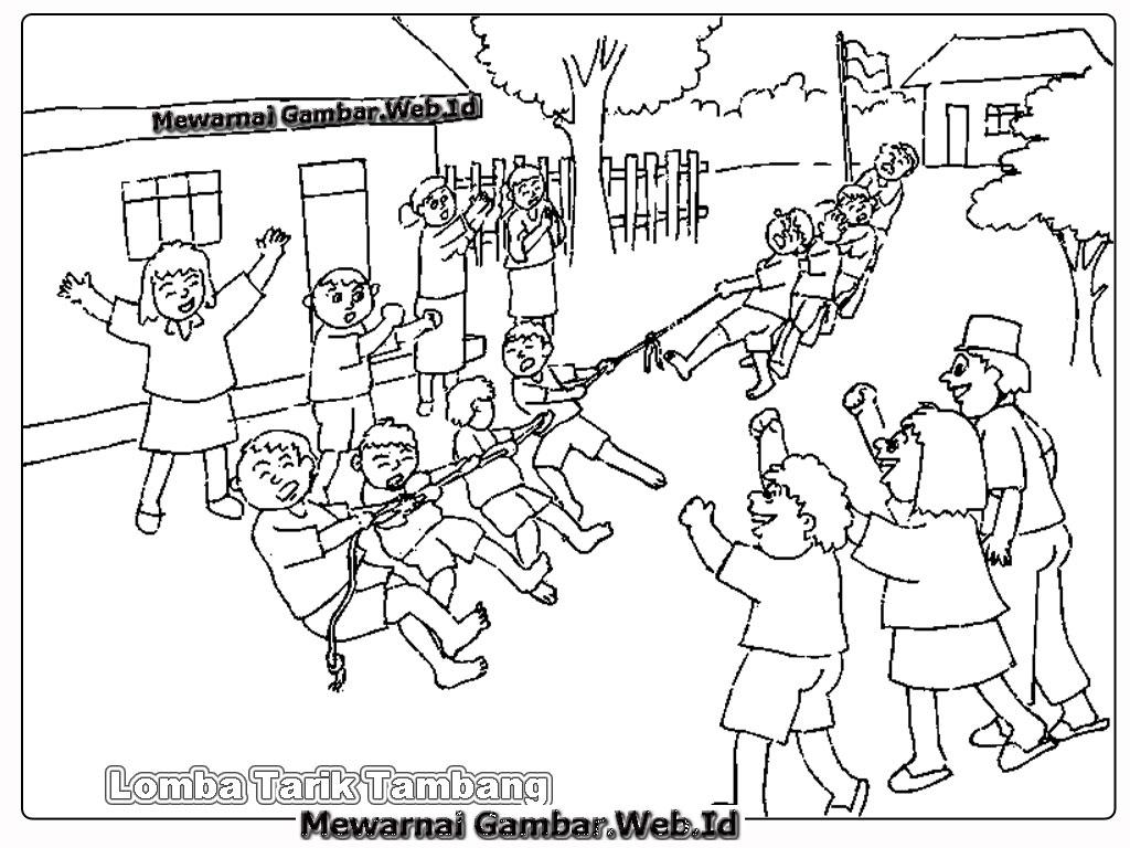 Gambar Kartun Lomba 17 Agustus Cewek Pacitan