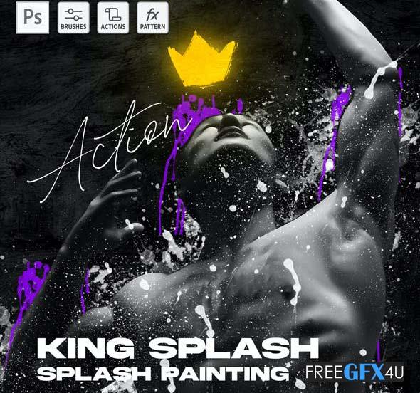 King Splash Painting Photoshop Action