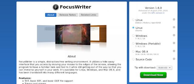 Focus writer terbaru 1.6