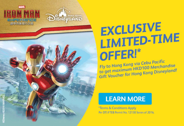 Cebu Pacific Fly to Hong Kong Disneyland Promo 2016-2017