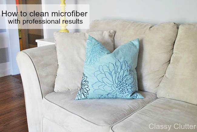 Terrific How To Clean Microfiber With Professional Results Classy Creativecarmelina Interior Chair Design Creativecarmelinacom