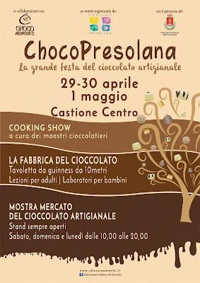 ChocoPresolana: grande festa del cioccolato 29-30 aprile - 1 maggio Castione della Presolana (BG)